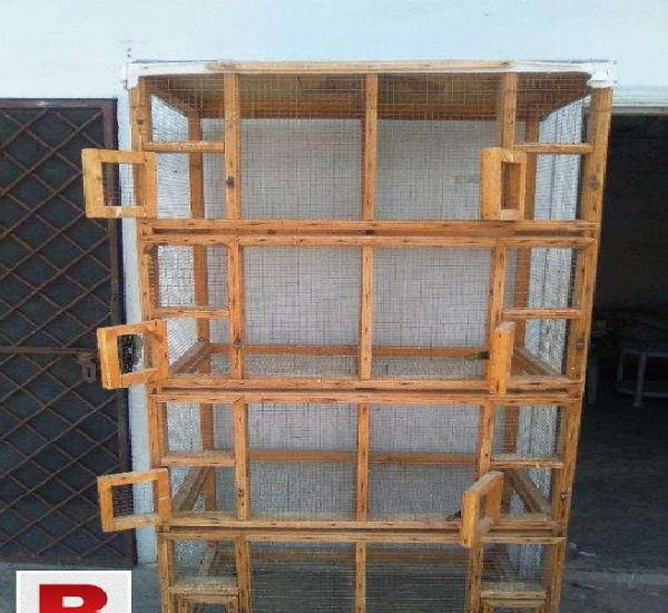 Wooden 8 portions cage in islamabd with try system and