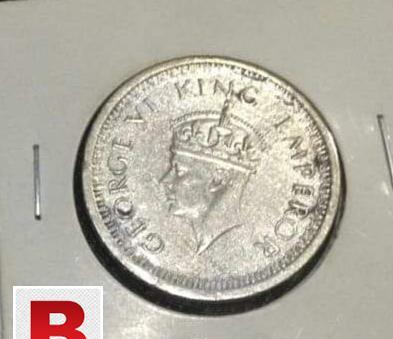 1 rupee british india silver coin 1944