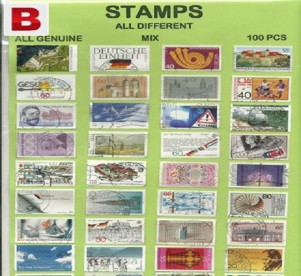 A set of 100 old stamps for sale