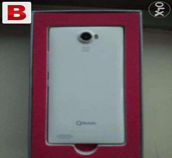Q mobile a500 in v good condition white colour full box