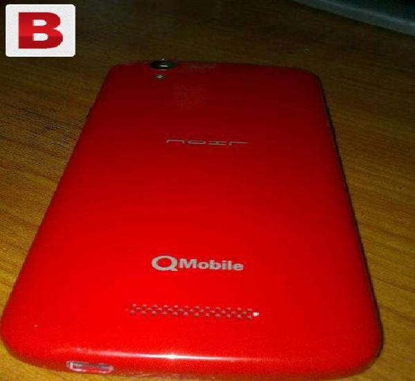 Qmobile noir i10 (red colour) with 6 months warranty