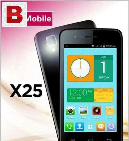 Qmobile x25 3g 4gb 512 ram dual camera complt accessories