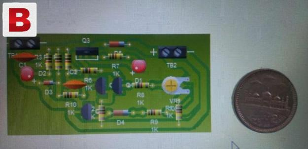 Pcb layout design and etching