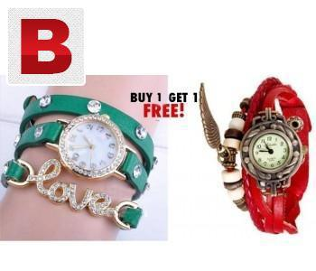 Buy 1 get 1 fashion love bracelet stylish watch