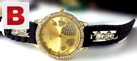 Ladies wrist watch with black strap deal 527