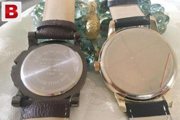 Large dial watch pair for men