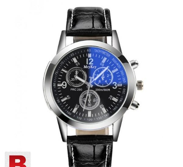 Men casual quartz leather band new strap watch analog wrist