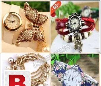Pack of 4 fashion watches