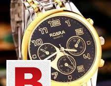 Wonderful rosra black & golden watch in hyderabad