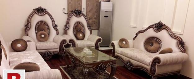 Seven seater deco carving sofa set with carved centre table