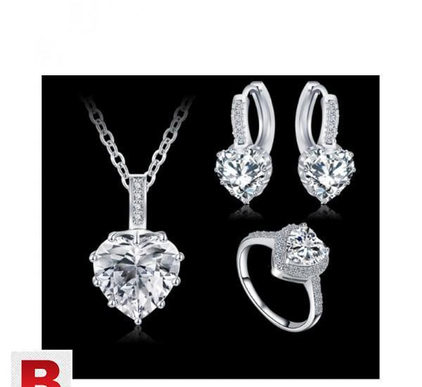 Anfasni 2016 new romantic wedding jewelry set zircon heart