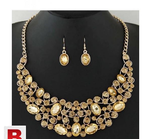 Choker statement bridal jewelry sets crystal african jewelry