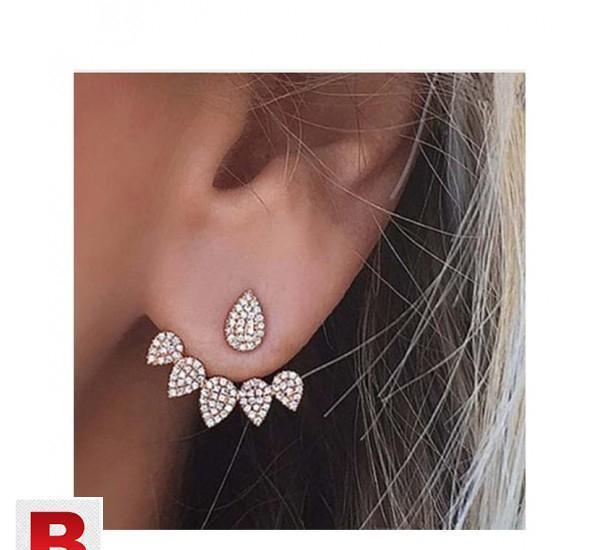 Crystal flower drop earrings for women fashion jewelry01