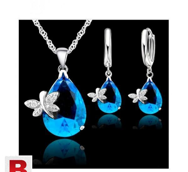 Elegant wedding jewelry sets for brides 925 sterling silver