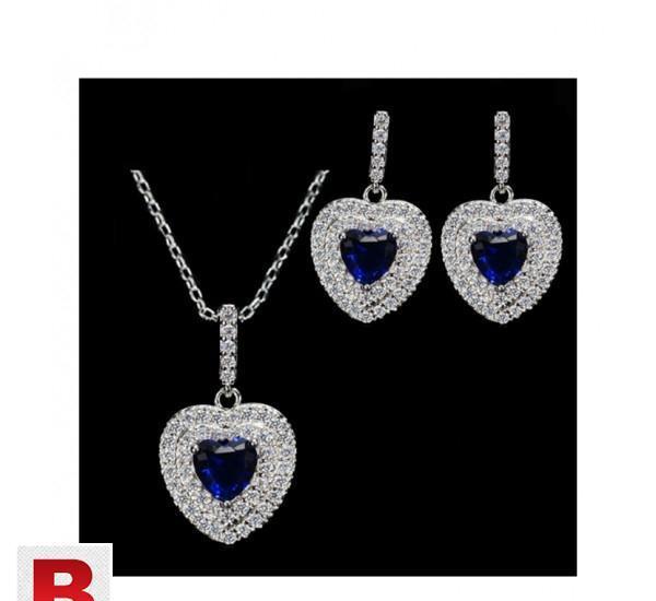 New Fashion Women Love Gift Dark Blue Cubic Zirconia Pendant