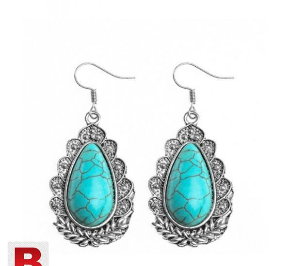 Qcooljly hot sale ethnic jewelry thai silver dangle earrings