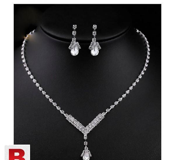 Treazy simple v shape teardrop bridal bridesmaid jewelry