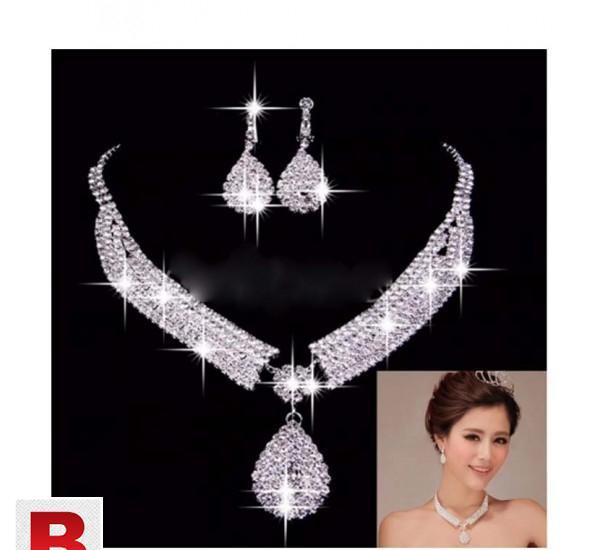 Women luxury wedding prom bridal jewelry sets