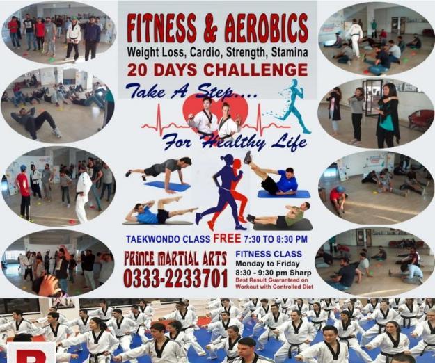 Fitness, aerobics 20 days challenge weight loss fat burn