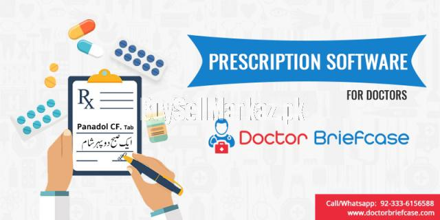 Doctor prescription software with doctor briefcase