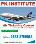 Air ticketing course in pk institute, rawalpindi