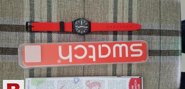 Original swiss watch for men (red colour)