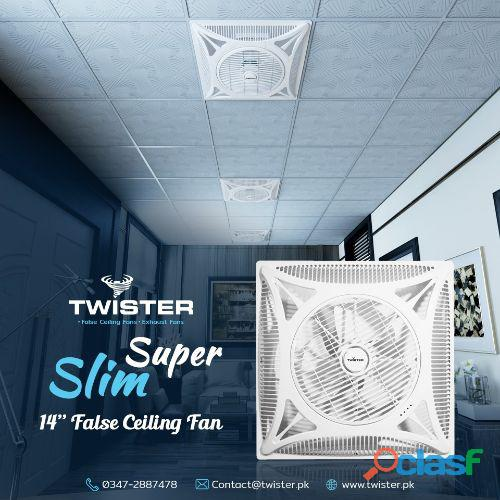 Twister false ceiling fan 14″ 2×2