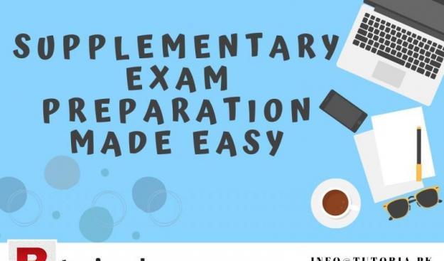 Supplementary exam preparation made easy!