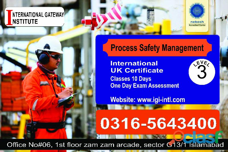 International certification in process safety management course in islamabad