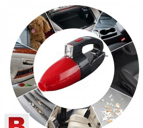 12v portable handheld wet and dry red car vacuum cleaner
