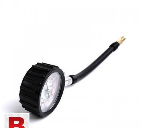 Long tube auto tyre air pressure gauge meter