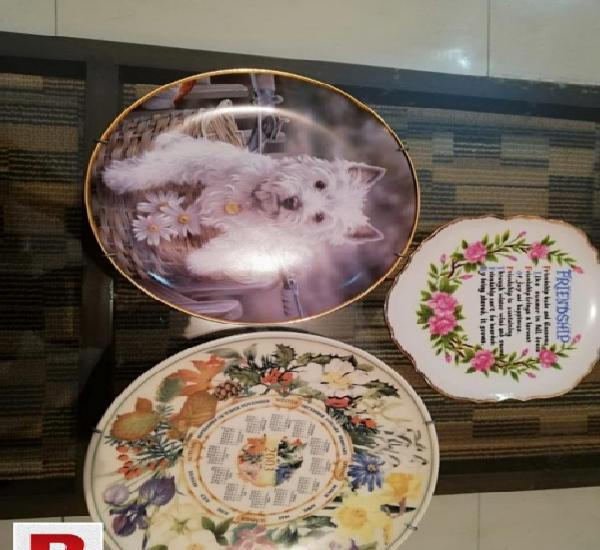 Pack of 3 decoration wall porcelain plates