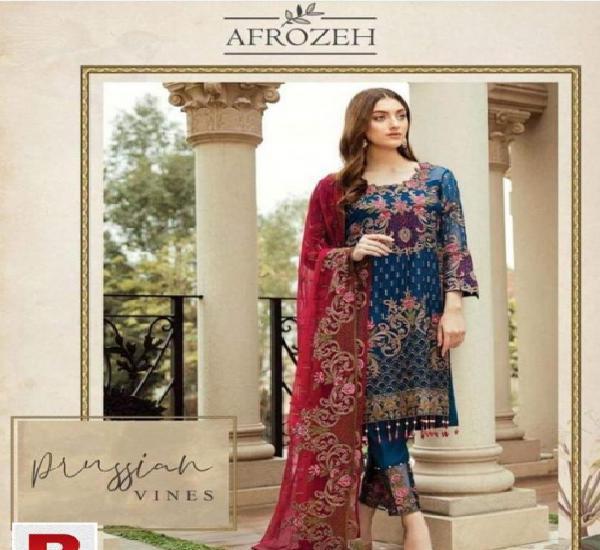 Afrozeh new chiffon wedding collection replica