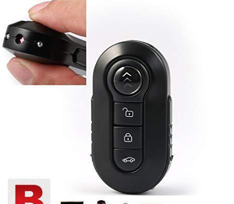 Metal mini key chain spy camera with ir night vision 1080p