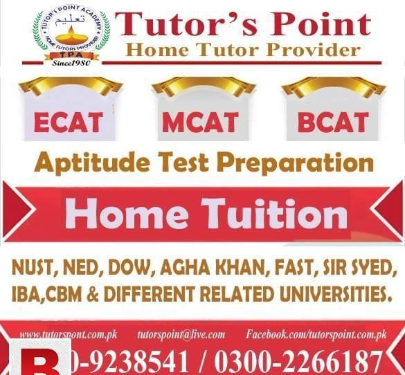 Ecat, mcat, bcat... best home tutors are available at your