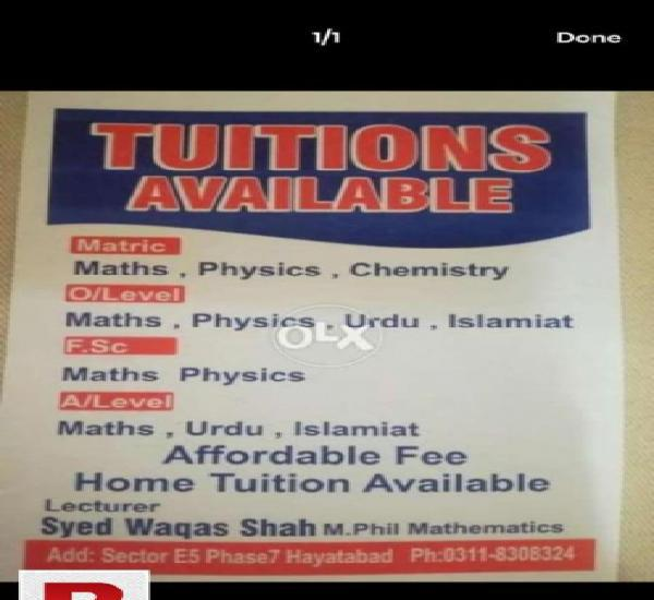 Home tuition in Peshawar