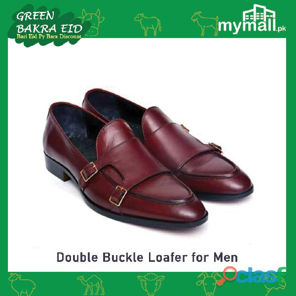 Double Buckle Loafers for Men