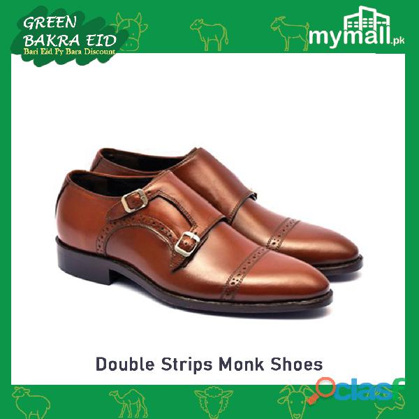 Double Strips Monk Shoes for Men
