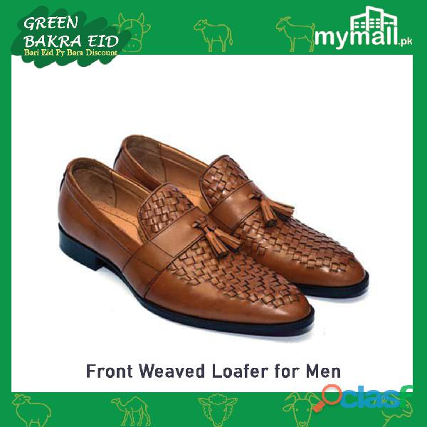 Front Weaved Loafers for Men
