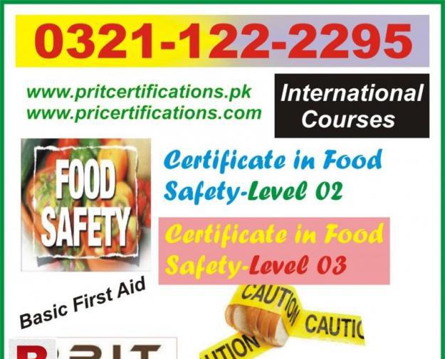 Food safety level 2 and level 3 in all pakistan