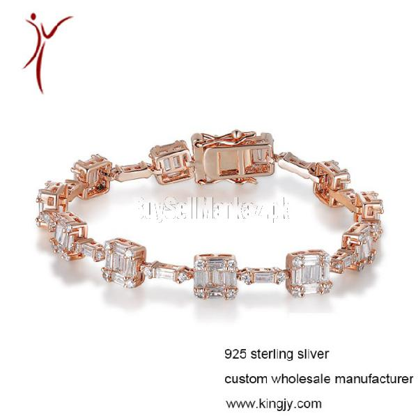 Custom wholesale 925 sterling silver bracelets for chain sho