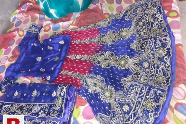 Royal blue waleema lehnga..only 4 hours used..condition 9/10
