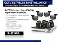 2 CCTV Camera 2mp (1080 N) Night Vision With DVR, Karachi