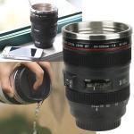 More Systo New Camera Lens Self Stirring Coffee Mug,