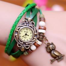 New geneva quartz watch handmade braided friendship bracelet