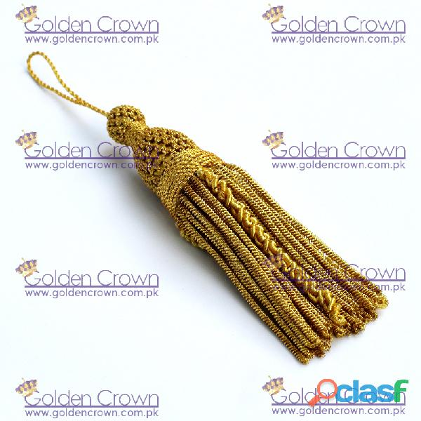 French Bullion Wire Metallic Tassels