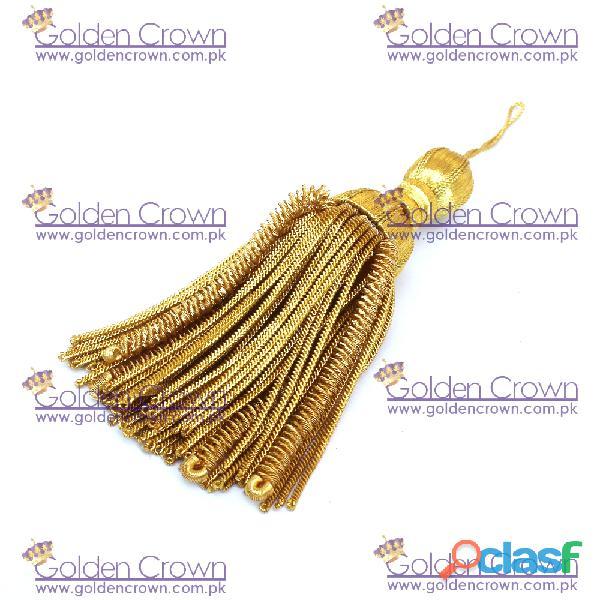 Gold Bullion Wire Decoration Tassel 1