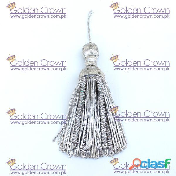 Silver bullion wire decoration tassel