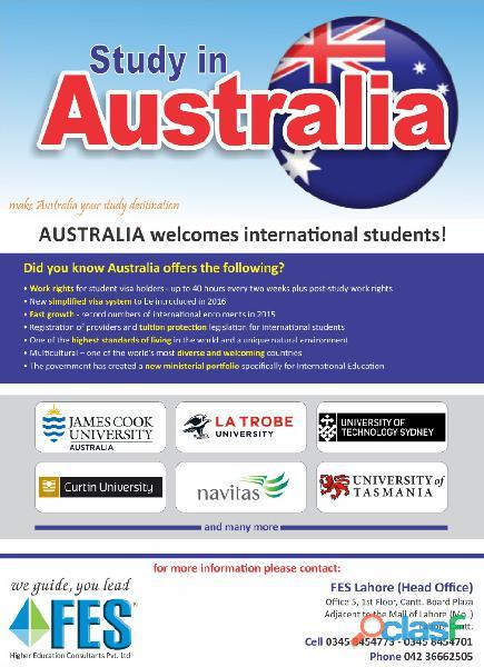 Study In Ireland, Malaysia, Australia, UK, US, Turkey With FES Higher Education Consultants Pvt Ltd