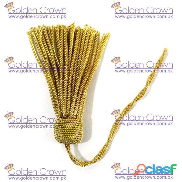 French gold bullion wire tassel handmade